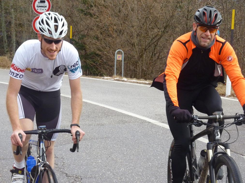 Stefano e Sepp all'arrivo